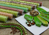 Bead Embroidery Colorways By Nikki Messal Copper & Green