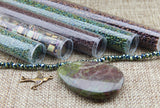 Bead Embroidery Colorways By Nikki Messal Green Iris & Brown