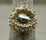 Crystal Shimmer Ring Gold