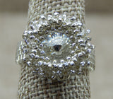 Crystal Shimmer Ring Silver