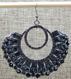 London Lace Earring Black NMDE