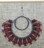 London Lace Earring Red NMDE