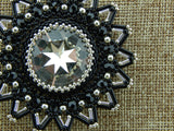 Northstar Pendant Black and Silver Close Up NMDE