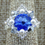 Royal Ring Blue & White Team Colors & Holiday Collection NMDE