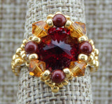 Royal Ring Garnet & Gold Team Colors Collection NMDE
