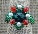 Royal Ring Emerald Rivoli Holiday Collection NMDE