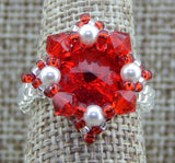 Royal Ring Red & White Team Colors & Holiday Collection NMDE