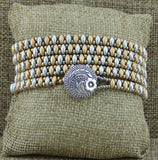 SD Wrap Bracelet Gold & Silver Tall Pillow