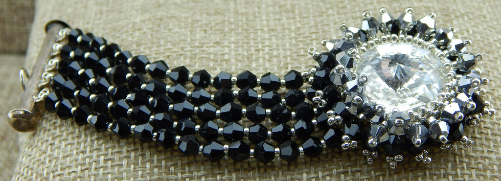 Star Burst Bracelet Black and Silver