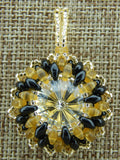 Super Duo Bezel Pendant Black and Gold Team Colors Collection
