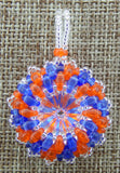 Super Duo Bezel Pendant Blue and Orange Team Colors Collection