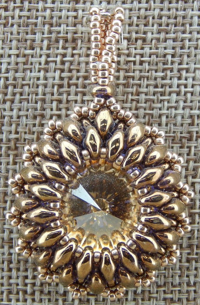 Super Duo Bezel Pendant Bronze