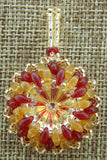 Super Duo Bezel Pendant Garnet and Gold Team Colors Collection