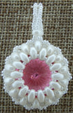 Super Duo Bezel Pendant Pink and White