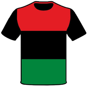 Men's Black Consciousness T-Shirt Red Black and Green