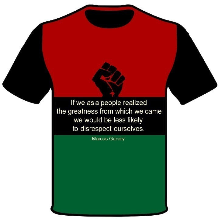 Men's Black Consciousness T-Shirt Marcus Garvey
