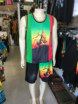 rasta Lion men's two piece.