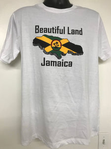 Jamaican men's T-shirt. Beautiful land Jamaica. (Wholesale)