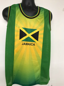 Jamaican silkscreen tank top. (Wholesale)