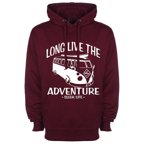 Maroon Long Live The Adventure Hoodie