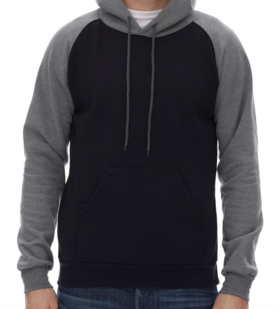 King Fashion - Fleece Raglan Hooded Sweatshirt