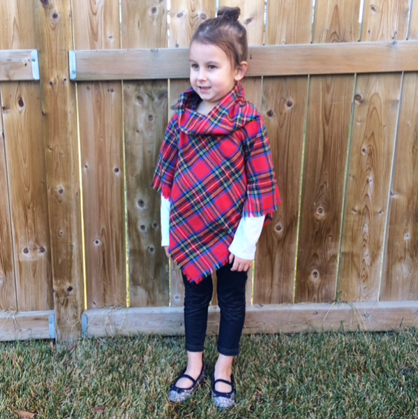 Poncho - Fun Plaid