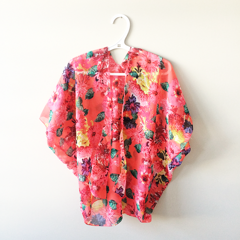 Kimono/Swimsuit Cover - Floral