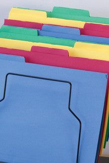 Colored Top Tab Folders