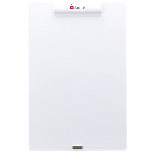 "Justick by Smead, Frameless Mini Dry-Erase Board with Clear Overlay, 16""W x 24""H with Justick Electro Surface Technology, White (02546)"