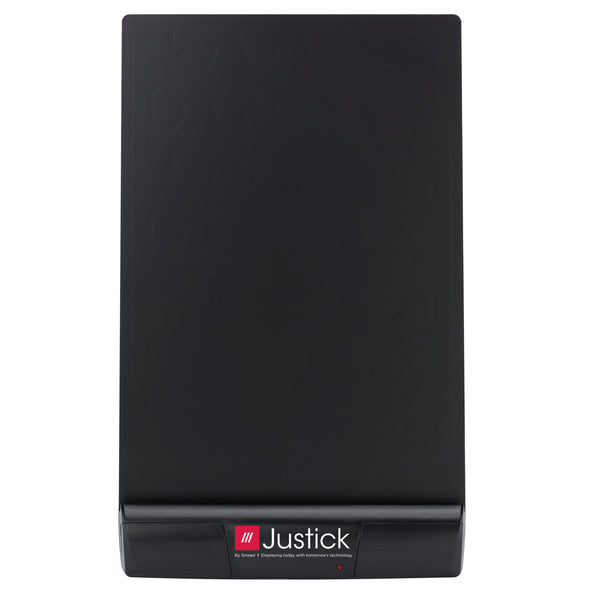 "Justick by Smead, Frameless Desktop Organizer/Copyholder, 8""W x 11""H, with Justick Electro Surface Technology, Black (02550)"