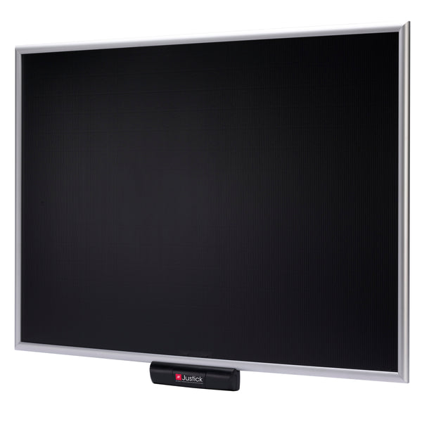 "Justick by Smead, Standard Aluminum Frame Electro Bulletin Board, 36""W x 24""H, with Justick Electro Surface Technology, Black (02560)"