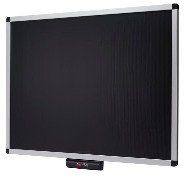 "Justick by Smead, Premium Aluminum Frame Electro Bulletin Board Black, 36""W x 24""H, with Justick Electro Surface Technology, Black (02561)"