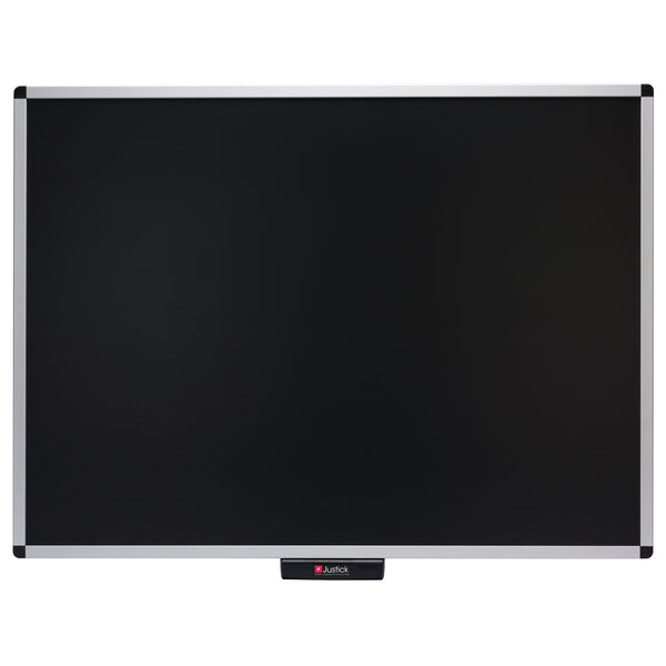 "Justick by Smead, Premium Aluminum Frame Electro Bulletin Board, 48""W x 36""H, with Justick Electro Surface Technology, Black (02563)"