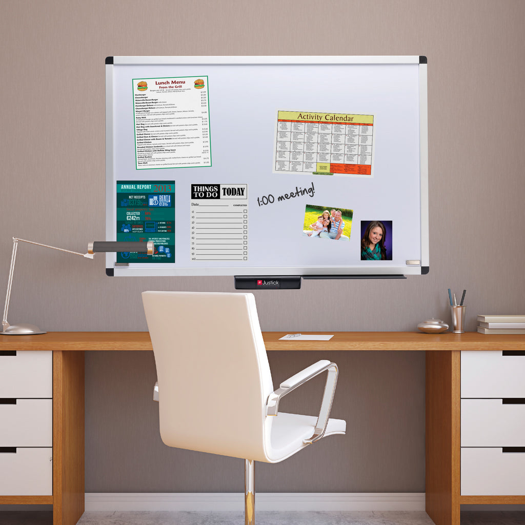 ... Justick By Smead, Premium Aluminum Frame Dry Erase Board With Clear  Overlay, 48 ...
