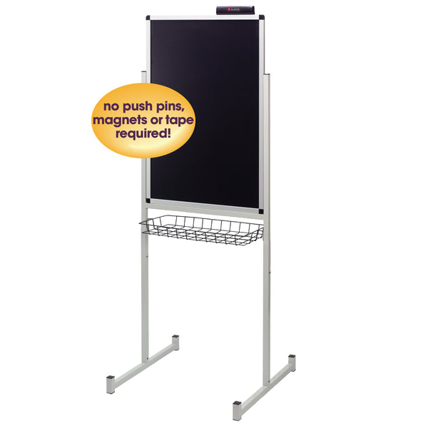 "Justick by Smead, Promo Stand Single Side, 24""W x 36""H, with Justick Electro Surface Technology, Black (02593)"