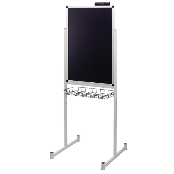 "Justick by Smead, Promo Stand Double Side, 24""W x 36""H, with Justick Electro Surface Technology, Black (02594)"
