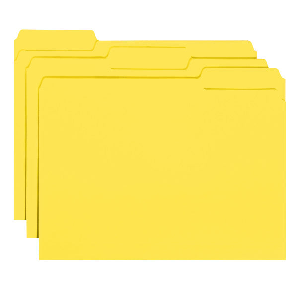 Smead Interior File Folder, 1/3-Cut Tab, Letter Size, Yellow, 100 per Box (10271)