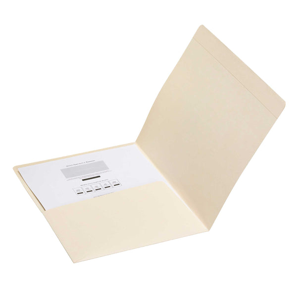 Smead Pocket Folder, Reinforced Straight-Cut Tab, Letter Size, Manila, 50 per Box (10315)
