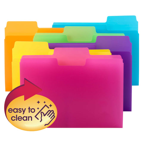 Smead SuperTab® File Folder, 1/3-Cut tab, Letter Size, Poly, 18 per Pack (10515)