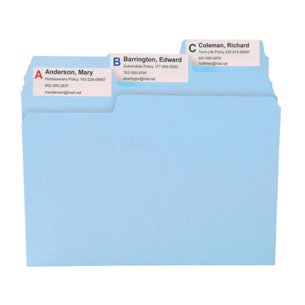 Smead SuperTab® File Folder, Oversized 1/3-Cut Tab, Letter Size, Assorted Pastel Colors, 24 per Pack (11927)