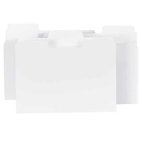 Smead SuperTab® File Folder, Oversized 1/3-Cut Tab, Letter Size, White, 100 per Box (11980)