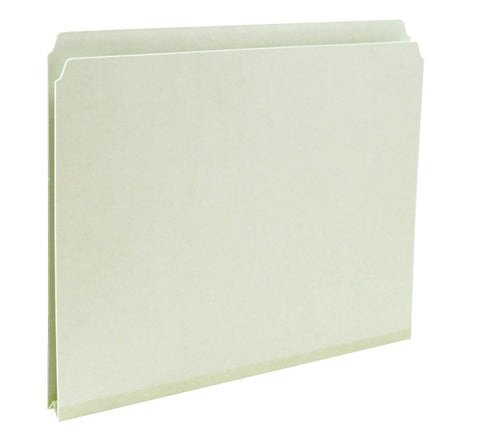 "Box of 25 Smead Pressboard File Folder, Straight-Cut Tab, 1"" Expansion, Letter Size, Gray/Green (13200)"