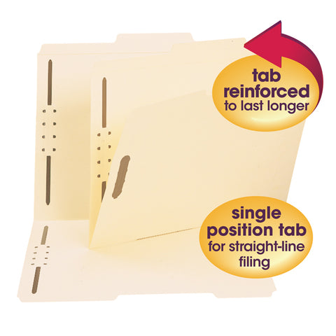 "Letter Yellow 50 Smead WaterShed//CutLess End Tab 2 Fastener Folders 3//4/"" Exp"