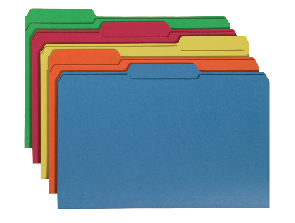 Smead Interior File Folder, 1/3 Cut Tab, Legal Size, Assorted Colors, 100 per Box (15229)