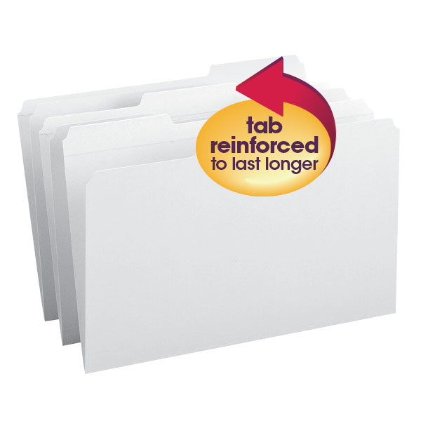 Smead File Folder, Reinforced 1/3-Cut Tab, Legal Size, White, 100 per Box (17834)