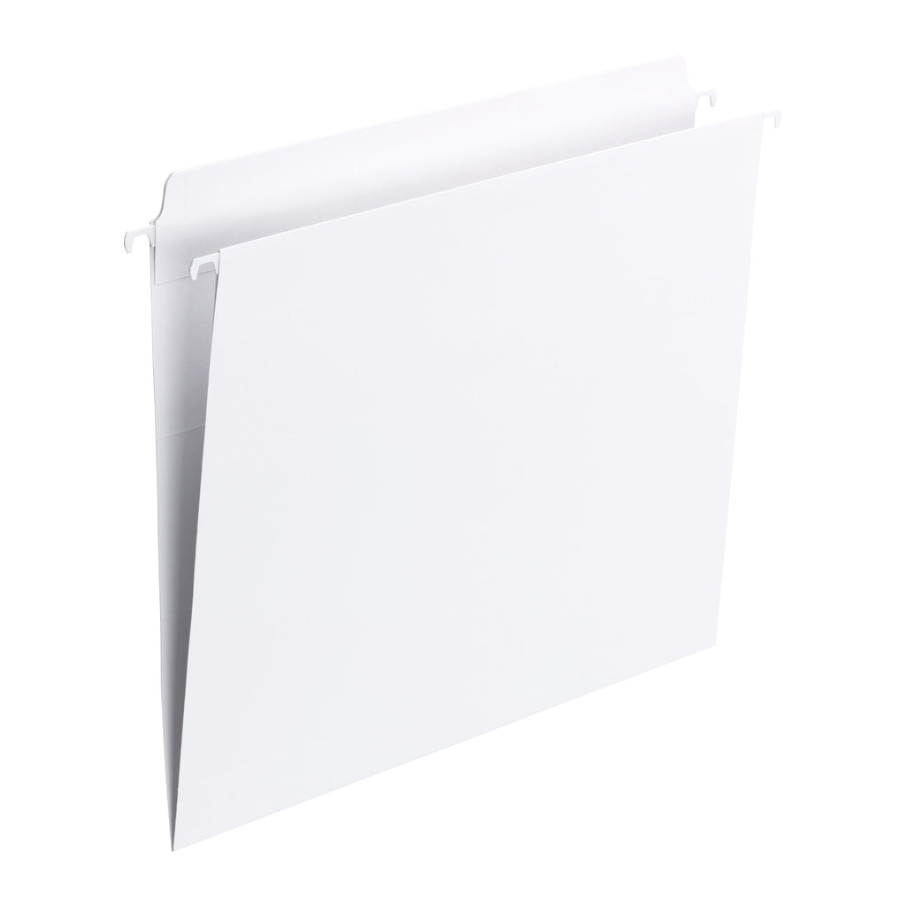 Smead FasTab® Hanging File Folder, Straight-Cut Built-In Tab, Letter Size, White, 20 per Box (64102)