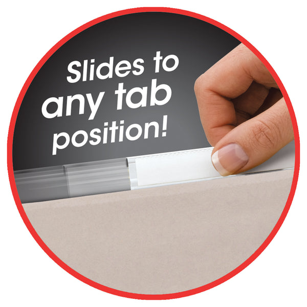 "Smead TUFF® Hanging Box Bottom Folder with Easy Slide™ Tab, 2"" Expansion, 1/3-Cut Sliding Tab, Letter Size, Steel Gray, 18 Per Box (64240)"