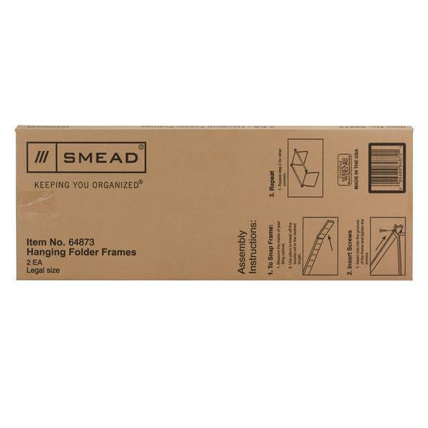 Smead Steel Hanging File Folder Frames, Legal Size, Steel, 2-Pack (64873)