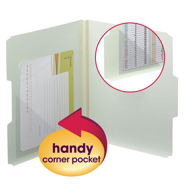 "Smead Self-Adhesive Poly Corner Pockets, 6""W x 6""H, Clear, 100 per Box (68160)"