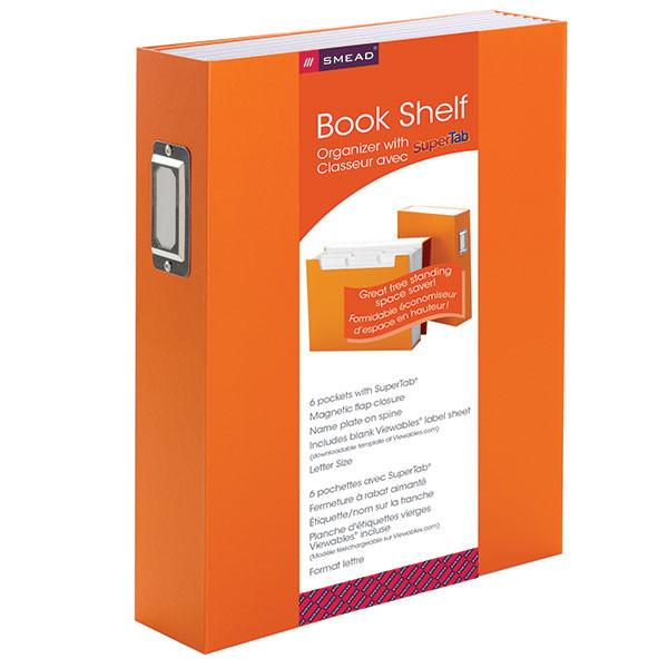 Smead SuperTab® Bookshelf Organizer, 6 pockets, Letter Size, Orange (70868)